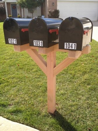 instructions on how to build a mailbox post
