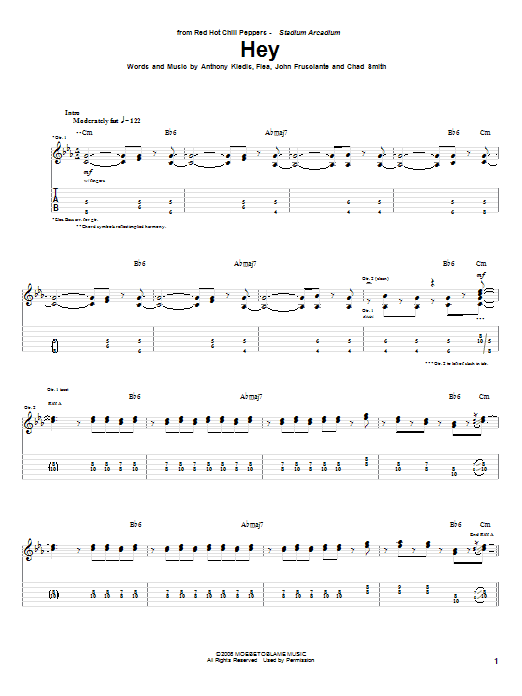 Snow red hot chili peppers tab pdf