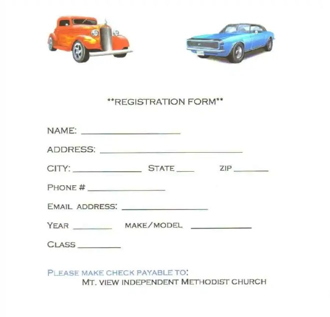 Application to cancel vehicle registration