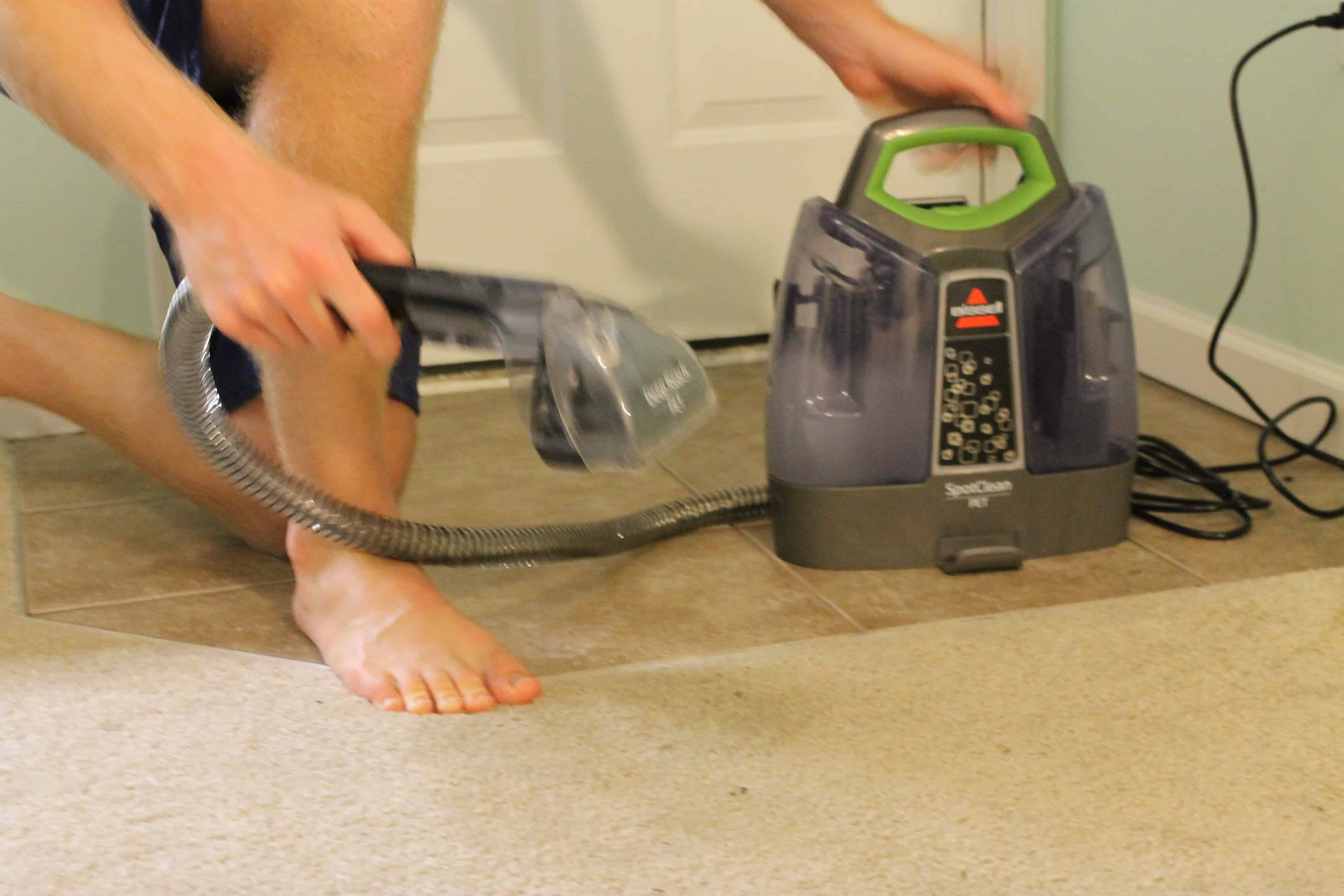 Bissell little green how to clean brush head