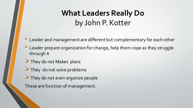 Managers and leaders are they different harvard business review pdf