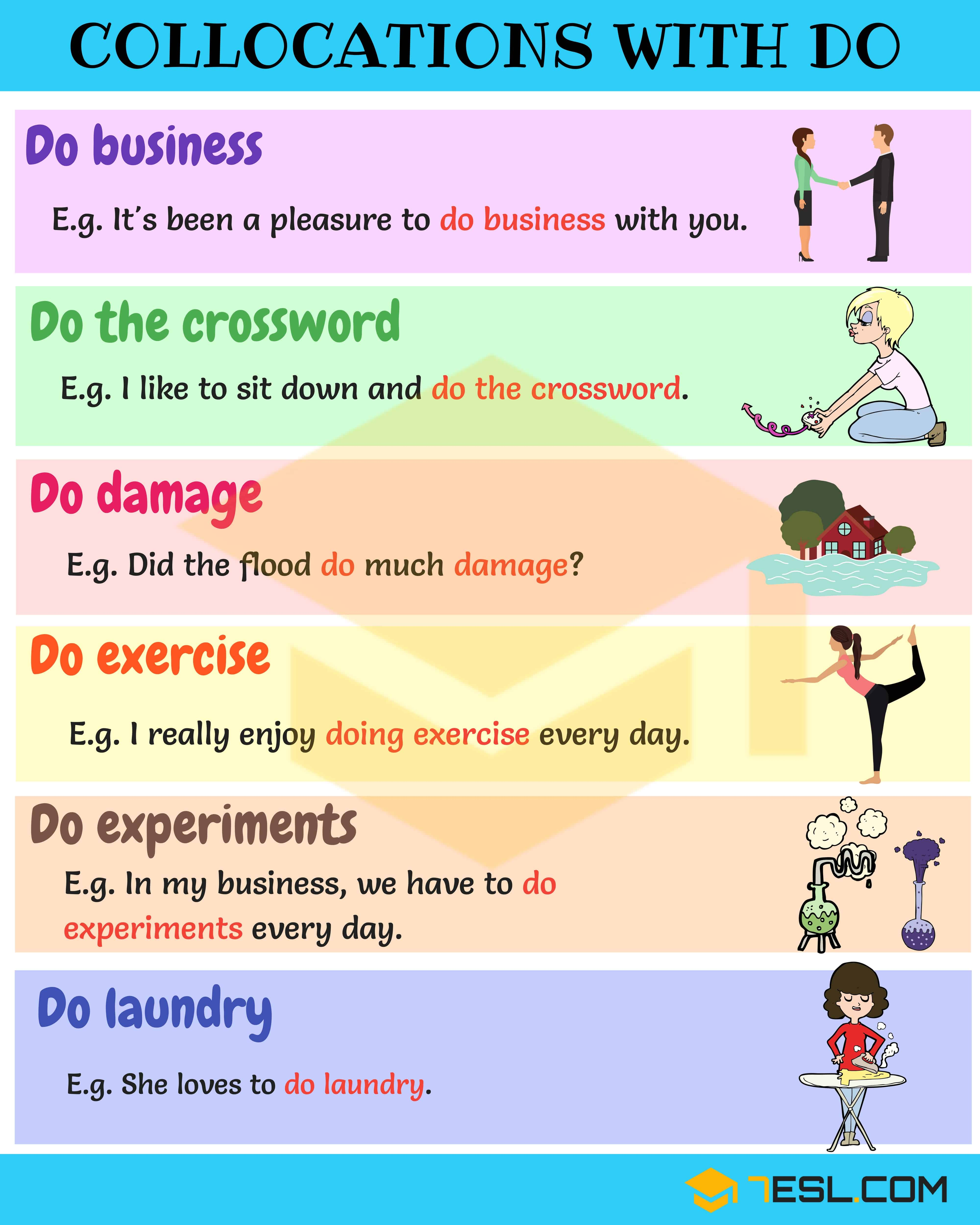 Give 5 example of verb