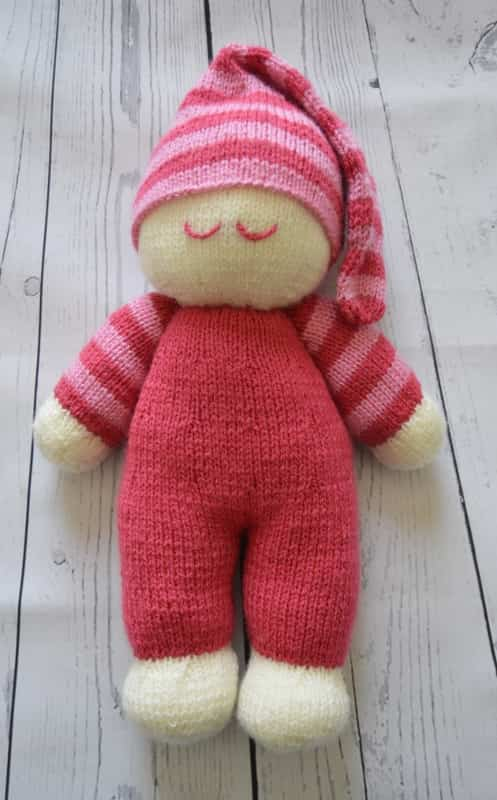 simple knitting doll instructions