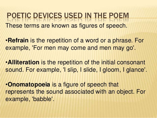 The word fizz is an example of which sound device