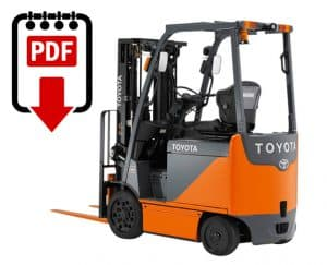 toyota 5fbe15 forklift service manual